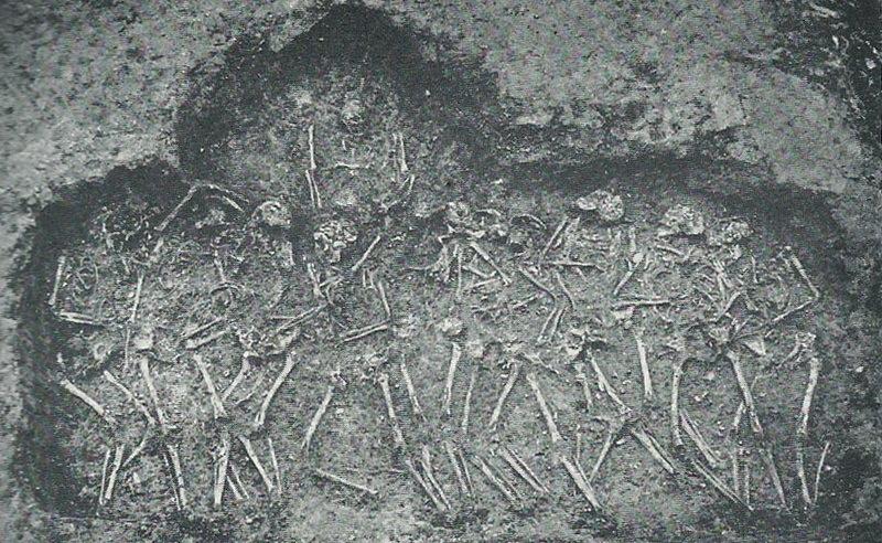 Могила № 23 с останками 11 человек. Фото И. Брёнштедта, 1948 год - Интернационал из Треллеборга | Warspot.ru