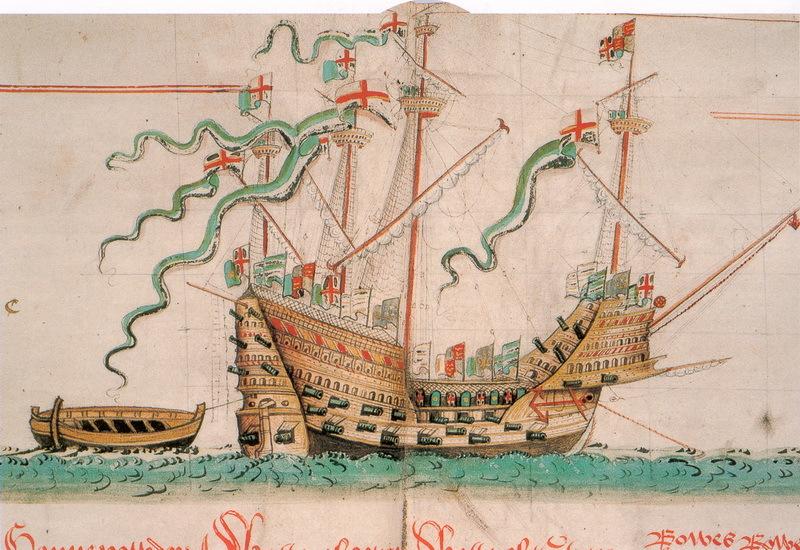 Изображение Mary Rose из «Свитка Энтони» - Неизвестная армада | Warspot.ru