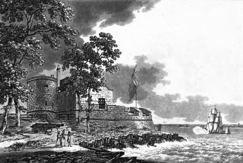 Каус-касл — форт, с которого Генрих наблюдал за сражением. Рисунок конца XVIII века - Неизвестная армада | Warspot.ru