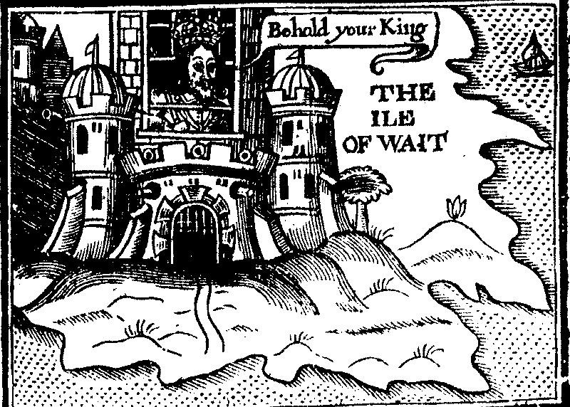 Скетч, изображающий Карла I в качестве пленника на острове Уайт. earlymodernprisons.org - Остров невезения | Warspot.ru