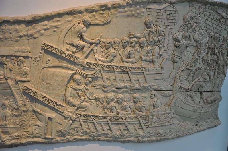 Римские военные корабли на Колонне Траяна - Флот Римской империи | Warspot.ru