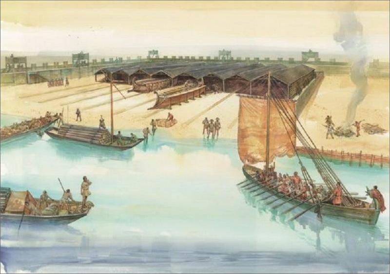 Реконструкция корабельной стоянки в Фехтио на Нижнем Рейне - Флот Римской империи | Warspot.ru
