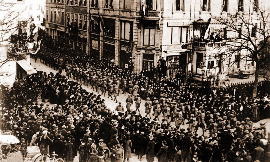 Американские войска входят в Люксембург, 21 ноября 1918 года - Странная война Люксембурга | Warspot.ru