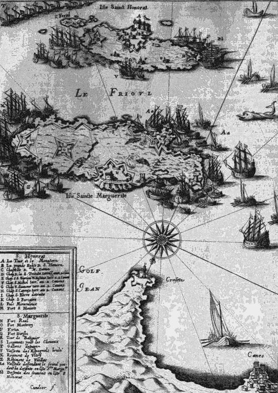 Французский флот атакует Леринские острова. Карта 1639 года. fr.wikipedia.org - Рождение флота Леванта | Warspot.ru