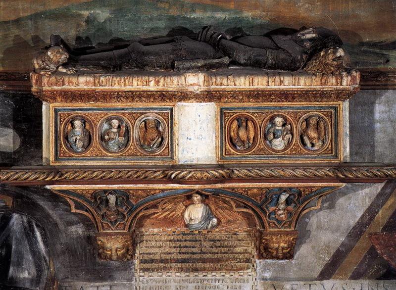 Мраморный саркофаг кондотьера Джакопо Кавалли, 1590-е годы. Базилика Санти Джованни-э-Паоло, Венеция.wga.hu