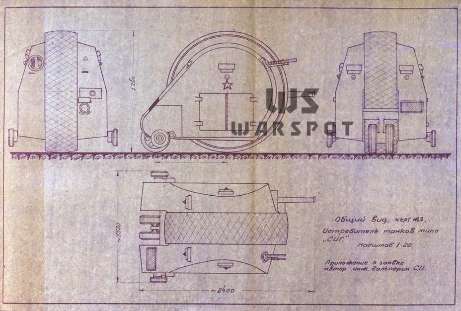 В отличие от большинства шаротанков, СИГ был небольшой машиной, что важно для истребителя танков. - Боевые сферы для Красной армии   Warspot.ru