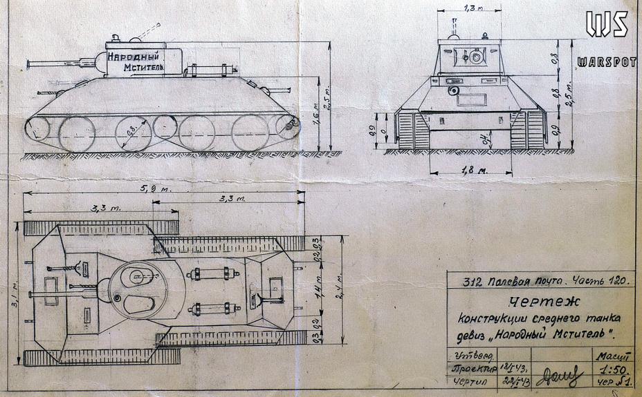 Средний танк красноармейца А.К. Долгова - Серьёзные намерения и несерьёзные результаты   Warspot.ru