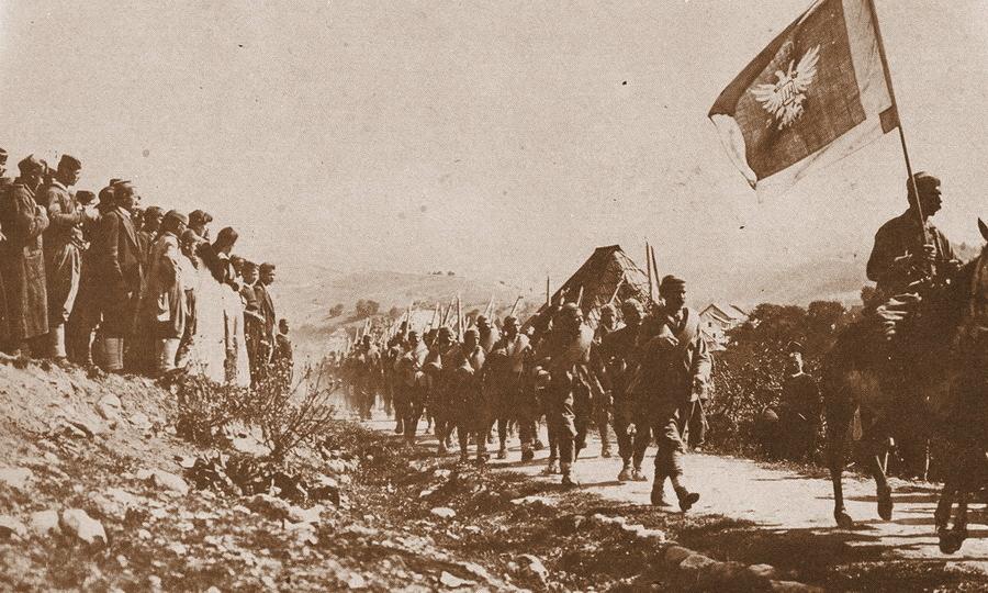 Парад черногорских войск, 1912 год (http://montenegrina.net) - Брат на брата: зеленаши против белашей | Warspot.ru