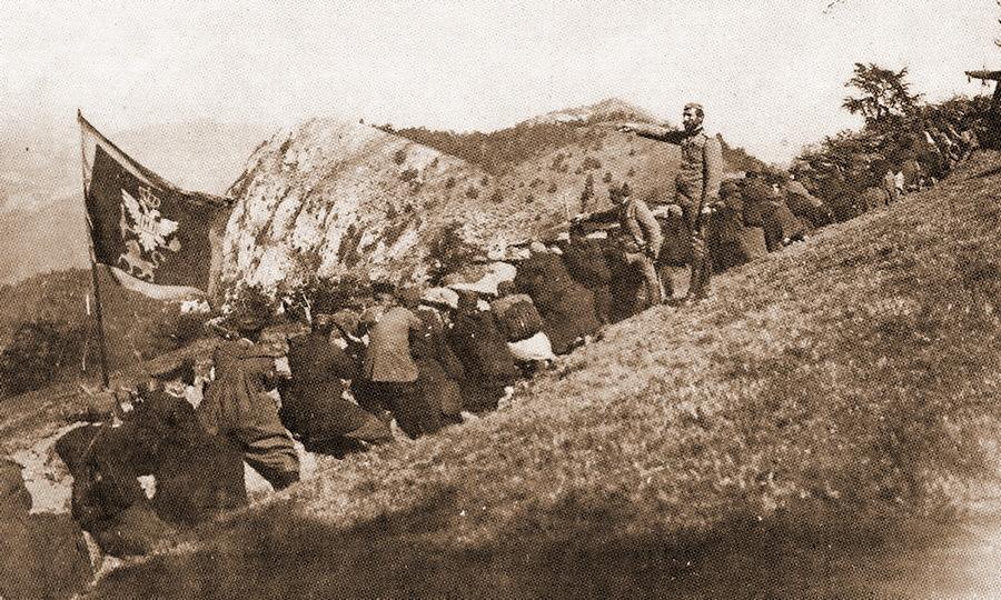 Черногорские стрелки в бою в горах, Первая мировая война (http://montenegrina.net) - Брат на брата: зеленаши против белашей | Warspot.ru