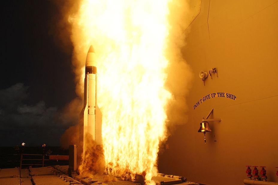 Пуск ракеты SM-3 с борта корабля. navy.mil - Япония купит 56 ракет за $1,15 млрд | Warspot.ru
