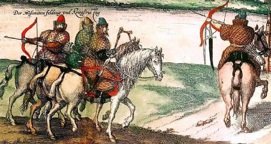 Боевые холопы. Фрагмент иллюстрации Сигизмунда Герберштейна, 1556 год - Война — дело рабское | Warspot.ru