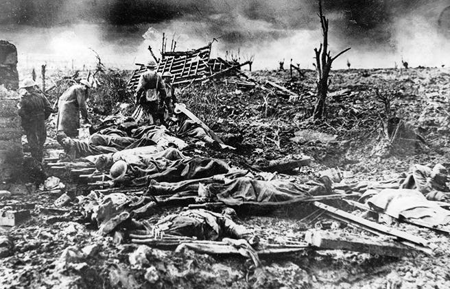 Британские солдаты, погибшие при Пашендале.warfor.me
