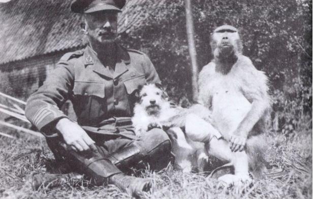 Джеки и подполковник Р.Н. Вудсенд в госпитале.samilhistory.com
