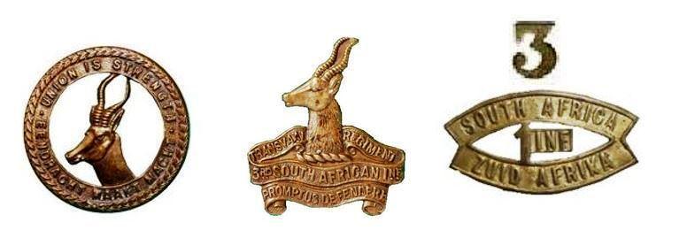 Знаки различия 3-го Трансваальского полка 1-й Южноафриканской пехотной бригады.allthatsinteresting.com