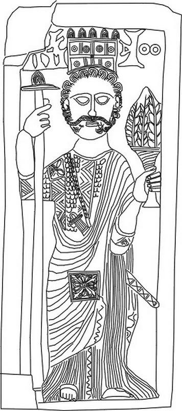 Зу Нувас Юсуф Асар Ясар (450–525), последний правитель Химьяритского царства в Йемене. Внешний облик и одежда Зу Нуваса причудливым образом соединяют разнонаправленные культурные влияния его времени. commons.wikimedia.org - Арабские федераты у римских границ | Warspot.ru