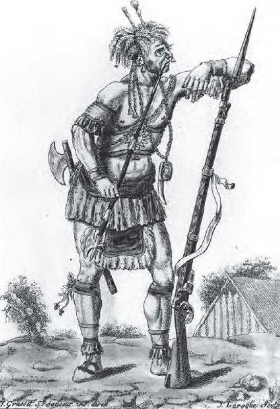Ирокез, вооружённый мушкетом. canada.ca - Кровь на тропе   Warspot.ru