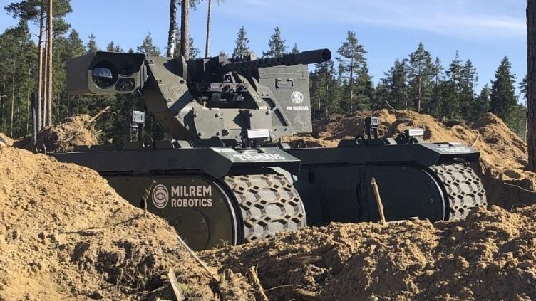 Робот THeMIS на учениях НАТО «Весенний шторм». janes.com - Эстонская армия испытывает боевых роботов | Warspot.ru