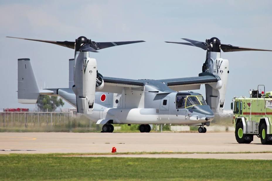 Конвертоплан V-22B Block C в «японской» расцветке. theaviationist.com - «Последний шанс» купить Osprey   Warspot.ru