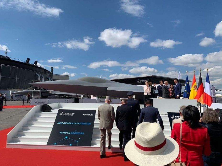 Макет истребителя FCAS. defence-blog.com - В Париже показали будущих конкурентов F-35 | Warspot.ru