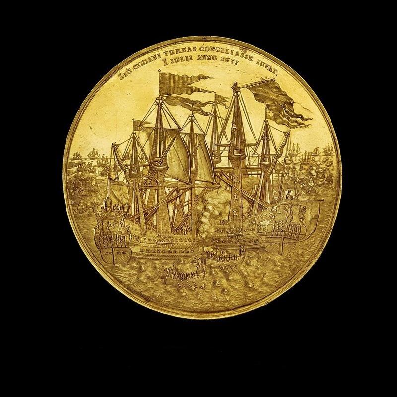 Датская медаль в честь победы в бухте Кёге. da.wikipedia.org - На суше и на море | Warspot.ru