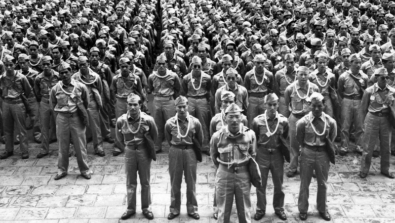 Солдаты 442-го пехотного полка, 1944 год.ent-mabui.jp