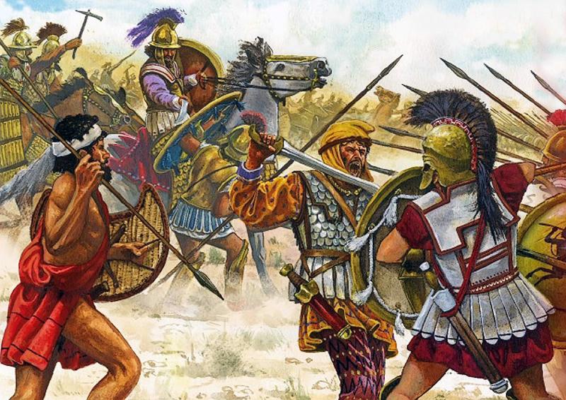 Столкновение греческой фаланги с персидской пехотой в битве при Кунаксе. profesorjuliodapenalosada.blogspot.com - Анабасис: по следам греческих наёмников | Warspot.ru