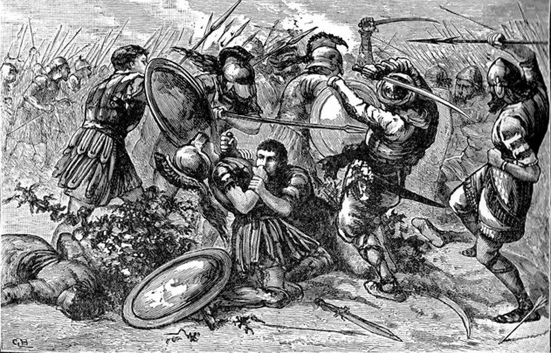 Битва при Кунаксе. Британский рисунок XIX века. en.wikipedia.org - Анабасис: по следам греческих наёмников | Warspot.ru