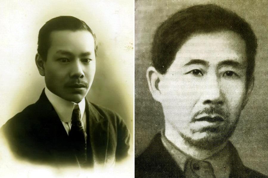 Слева глава петроградского Союза китайских рабочих Лау Сиу-джау, справа главный комиссар по формированию интернациональных частей Красной армии Шен Чен-хо - Китайцы в РККА: искусство войны   Warspot.ru
