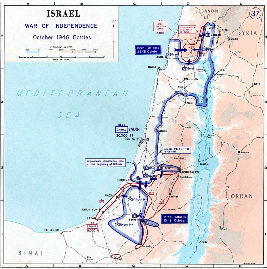Боевые действия в октябре 1948 года pl.wikipedia.org - Первый бой израильского флота | Warspot.ru