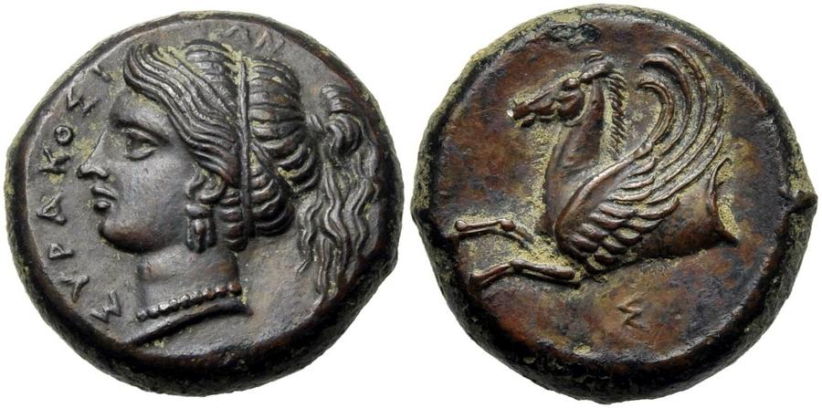 Медная сиракузская монета времён правления Тимолеона - Борец с тиранами   Warspot.ru
