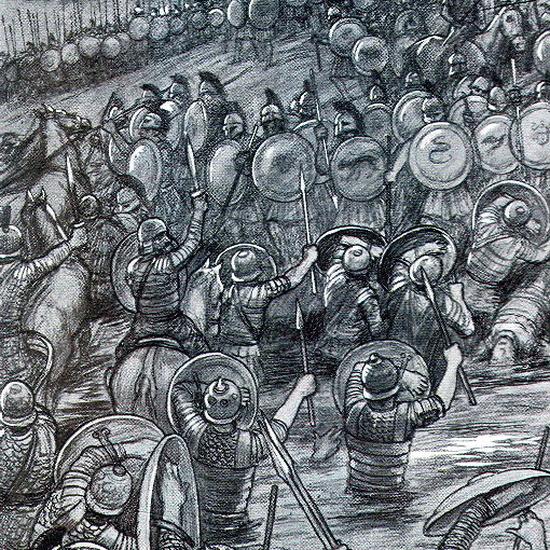 Сиракузяне в бою против карфагенского войска - Борец с тиранами   Warspot.ru
