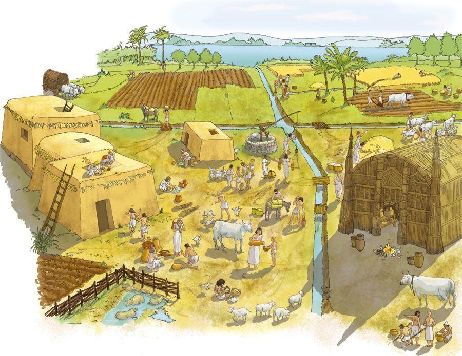 Шумерское поселение начала раннединастического периода. Автор рисунка — Damini Kashelkar pixels.com - «Его руки копьё сжимают, дубинка вражьи затылки молотит» | Warspot.ru