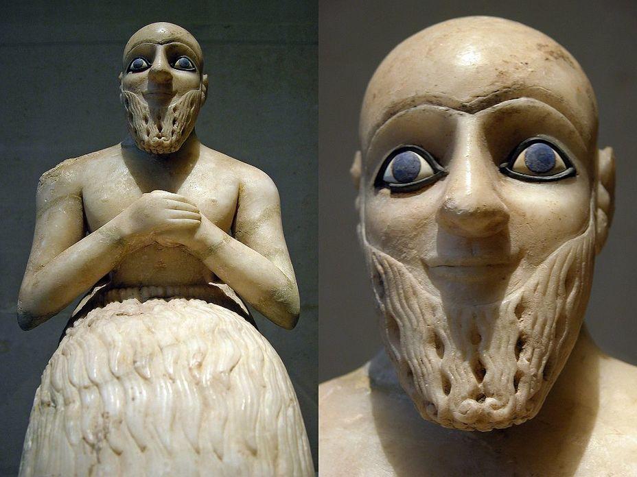 Статуэтка нубанды Эбих-Иля из Мари, около 2400 лет до н.э. Музей Лувра ecriplume.com - Война родилась здесь | Warspot.ru