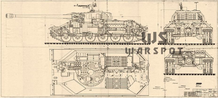 Окончательный внешний вид Объекта 252 (ИС-6), конец августа 1944 года - Не попавший в амплитуду   Warspot.ru