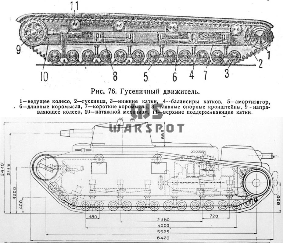 Схема ходовой части Т-28 и Großtraktor Krupp — как можно заметить, у них много общего - Теория бронетанковых заблуждений | Warspot.ru