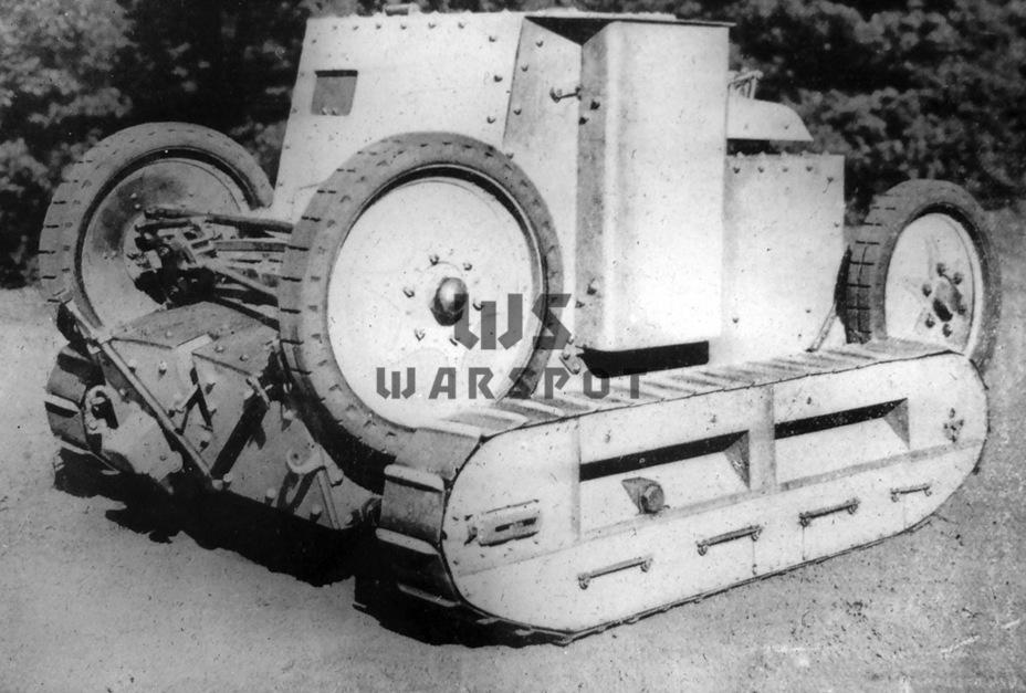 Autochenille Saint-Chamond Mle.1921, первый образец серийного колёсно-гусеничного танка - Теория бронетанковых заблуждений | Warspot.ru