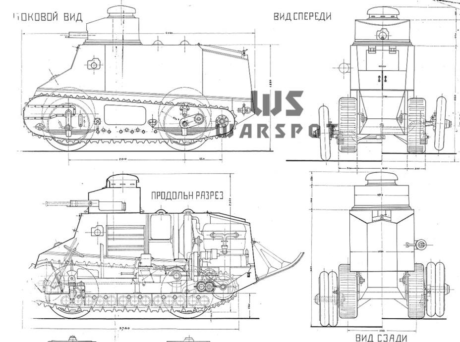 Первое предложение аналога колёсно-гусеничного танка со стороны Фольмера, 1924 год - Теория бронетанковых заблуждений | Warspot.ru