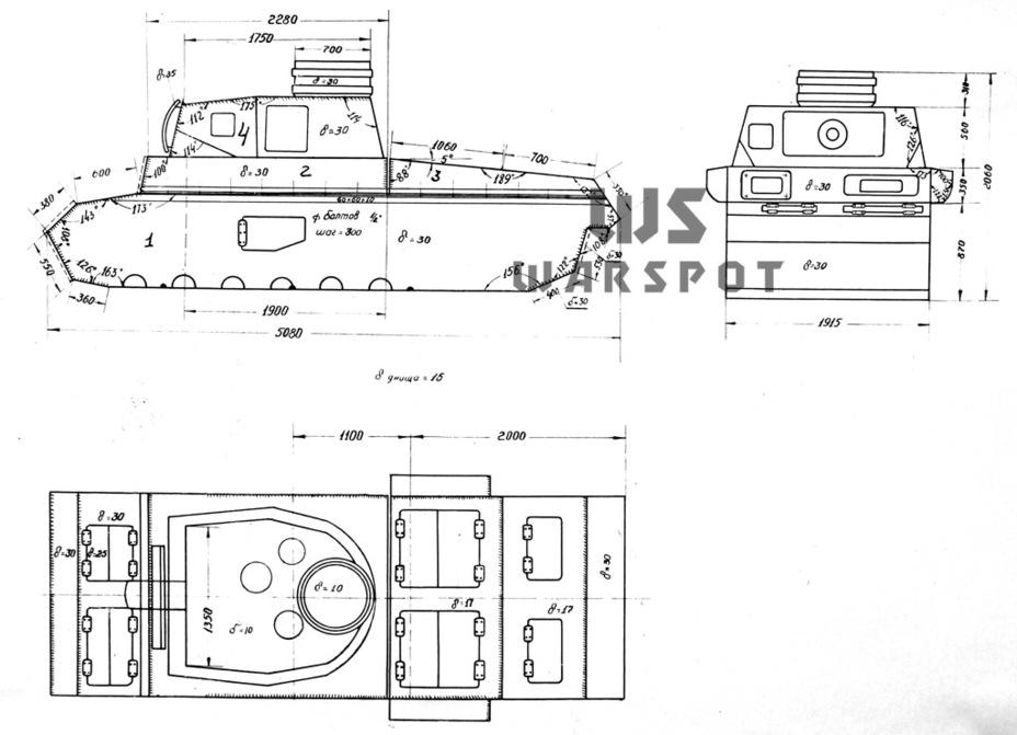 Схема броневой защиты Pz.Kpfw.III из отчёта НИИ-48. Цементированной брони на бортах там не нашли, да и быть её там не могло - Теория бронетанковых заблуждений | Warspot.ru