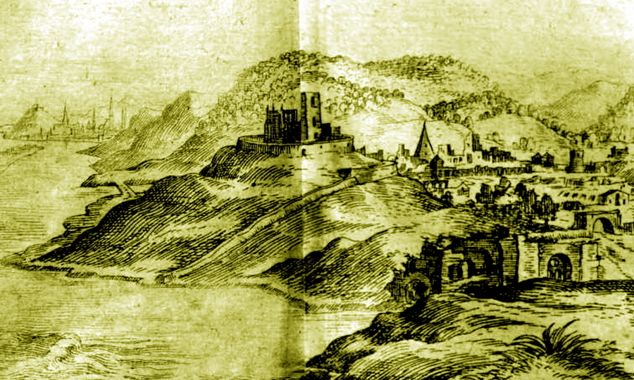Старая Буда в XVII веке, вид в сторону горы Геллерта и Буды (видны вдали у левого обреза) - «Вся Венгрия султану принадлежит…»   Warspot.ru