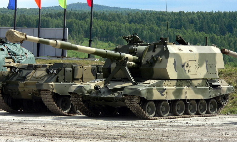 ​САУ 2С19М1-155 на выставке Russian Defence Expo-2009 - «Натовский» калибр для российской гаубицы | Warspot.ru