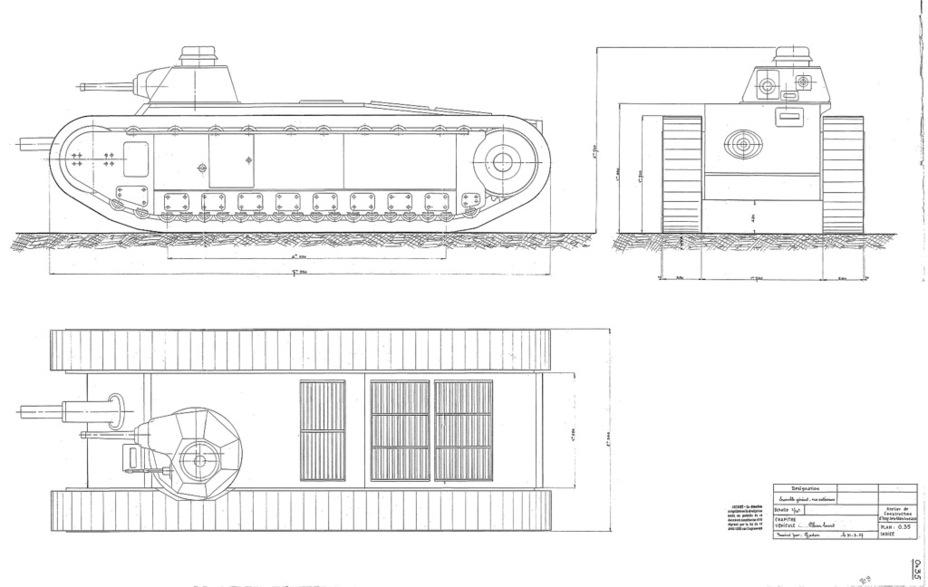 Проект сверхтяжёлого танка от AMX, 1937 год. Концепция генерала Эстьена образца 1921 года на новый лад - Колосс на глиняных ногах | Warspot.ru