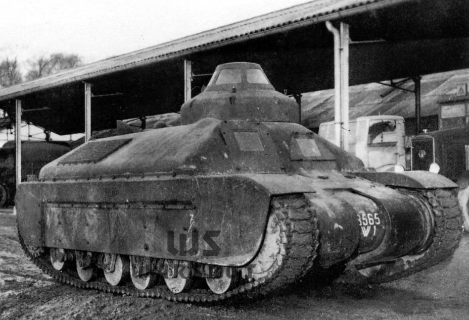 Опытный образец Char G1P. Этот танк оказался единственным дошедшим до стадии опытного образца, но показал себя крайне неудачно - Колосс на глиняных ногах | Warspot.ru