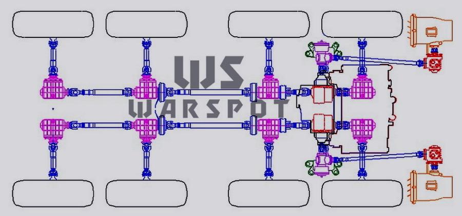 Схема ходовой части первого образца БТР-90, сделанная в КБ - «Росток», не пробивший асфальт | Warspot.ru