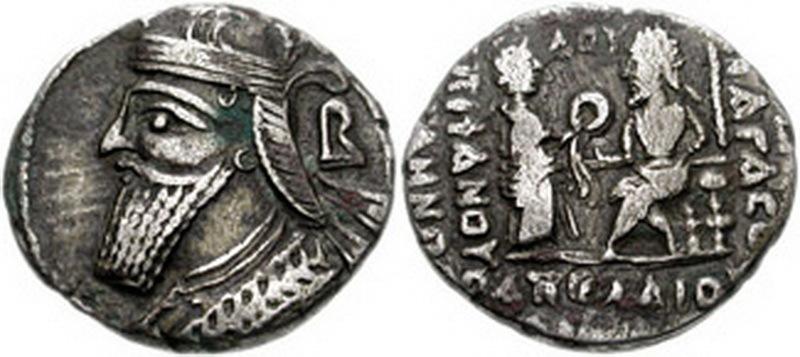 Серебряная монета Вологеза III. en.wikipedia.org - Парфянская война Луция Вера | Warspot.ru