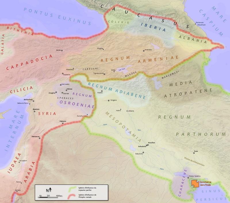 Римская империя и Парфянское царство в первой половине II века н.э. de.wikipedia.org - Парфянская война Луция Вера | Warspot.ru