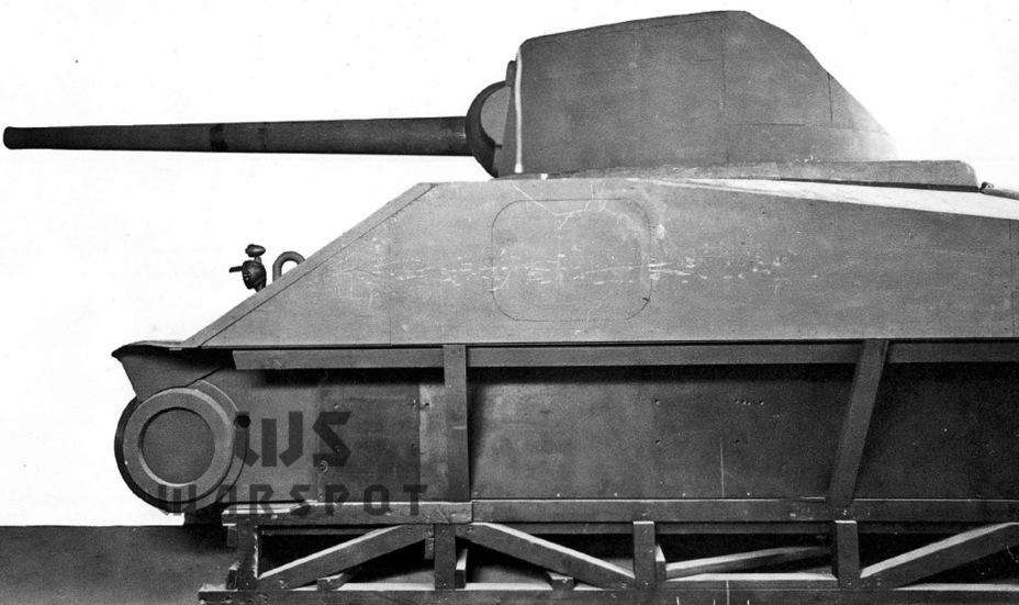 Полноразмерный макет GMC T35. Как можно заметить, первоначальный вариант машины существенно отличался от того, что было изготовлено в металле - Средний истребитель по-американски | Warspot.ru