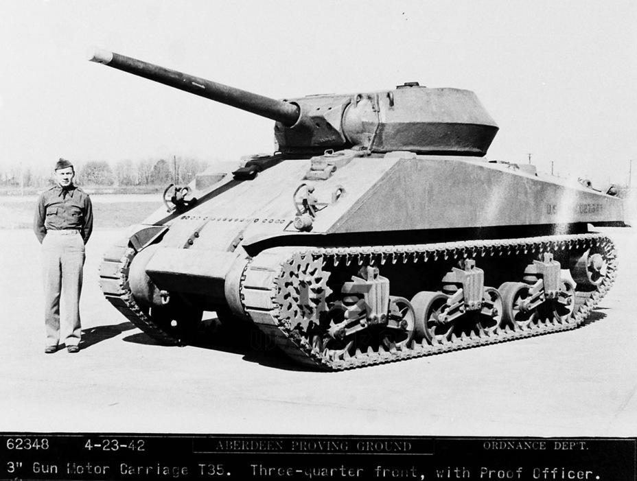 Первый опытный образец, GMC T35, был готов к 10 апреля 1942 года, в том же месяце он поступил на Абердинский полигон - Средний истребитель по-американски | Warspot.ru