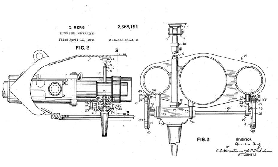 Новая конструкция орудийной установки, разработанная Квентином Бергом. Именно её использовали на серийных GMC M10 - Средний истребитель по-американски | Warspot.ru