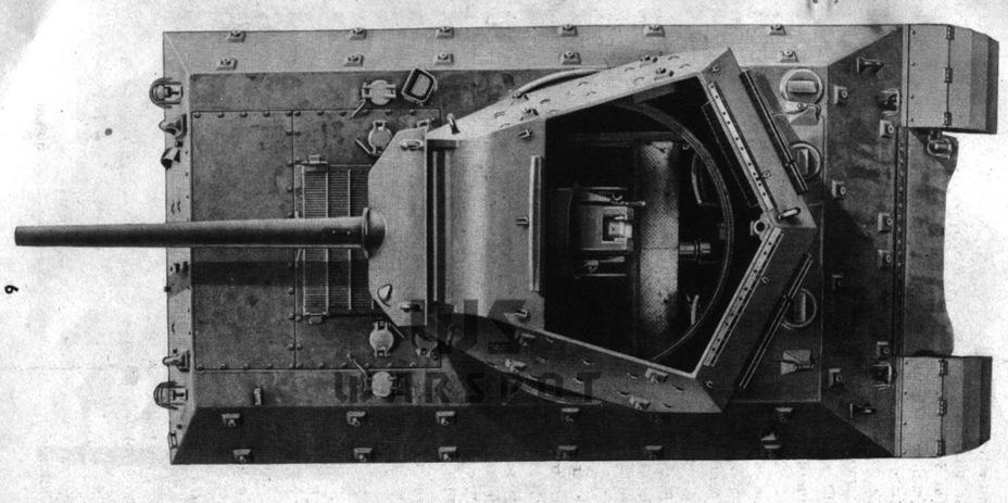 По сравнению с GMC T35/T35E1 сильно изменилась башня. Впрочем, это была ещё не финальная её версия. Испытания показали проблемы с её уравновешенностью - Средний истребитель по-американски | Warspot.ru
