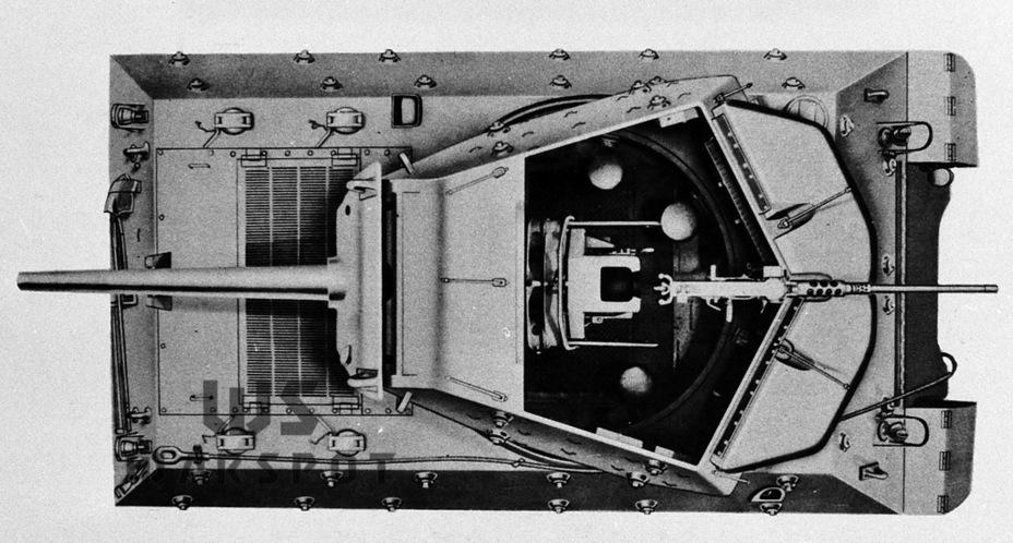 Внешне GMC M10A1 отличалась конфигурацией крыши моторного отделения - Средний истребитель по-американски | Warspot.ru